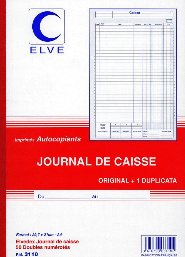 JOURNAL DE CAISSE Carnet autocopiant Dupli - 297 x 210 mm ...