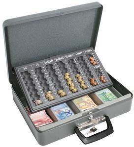 coffret caisse pour pi ces et billets maxi gris wedo gestion de monnaie ventes pro. Black Bedroom Furniture Sets. Home Design Ideas
